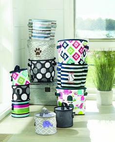 Mini storage bins and snap it bins from Thirty-One! Make organizing pretty! www.bagsandbins.com #thirtyone #organize