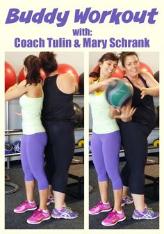 This is a great core exercise you can do with a buddy, this is Mary Schrank…
