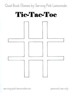 Today is part three in my quiet book game series. I hope you're enjoying them! Today I'm share how to make a tic-tac-toe game. Who ever...