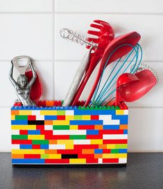 LEGO organizer - kitchen, desk, kids #lego #kids #kitchen #make #diy