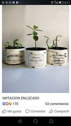 Tin Can Crafts, Diy Crafts, Tin Can Alley, Oil Barrel, Garden Basket, Tin Art, Altered Boxes, Bottles And Jars, Farmhouse Decor