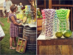 lemonade stand or bar? or at least the barrels for some sort of table