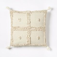 Commune Temoayan Pillow Cover - Ivory | west elm