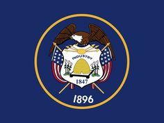 Utah - In 2011, Utah enacted a resolution to fix a mistake that was accidentally adopted into the state flag when a flag maker misprinted the year 1847 above the year 1896 instead of on the shield, where it belongs.