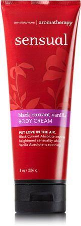 Black Currant Vanilla Body Cream - Aromatherapy - Bath & Body Works