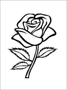 flower Page Printable Coloring Sheets | Rose coloring and printable page | Coloring pages