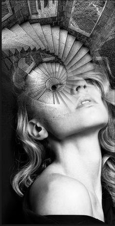 Courtney Cooper portrait by antonio mora Double Exposure