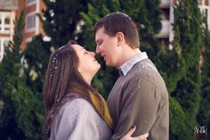 snowy #couple #engagement