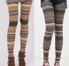 Bohemian Knit Pattern Leggings