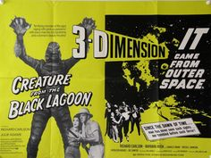 Julie Adams and Richard Carlson in Creature from the Black Lagoon Richard Carlson, 3d Film, Sci Fi Films, Famous Monsters, Black Lagoon, Classic Monsters, Film Posters, Vintage Movies, Feature Film