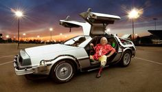 Over 25 years since Doc Brown's DeLorean time machine was first created, it's being given a comprehensive and long-overdue restoration. Dmc Delorean, Delorean Time Machine, The Time Machine, Doc Brown, Michael J Fox, Unique Cars, Back To The Future, Cultura Pop, Concept Cars
