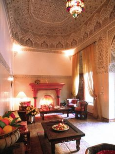 Moroccan Style Living Room Design Ideas {once You Get Past The Ceiling,  Then Theu2026