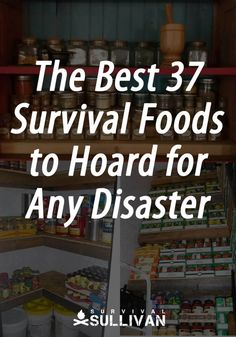 The 37 best survival foods to hoard for any disaster or emergency. Long shelf life, cheap, and they are NOT MREs or freeze-dried. If you're looking to build a survival stockpile, you obviously want to know the best survival f Emergency Food Storage, Emergency Food Supply, Emergency Preparedness Kit, Emergency Preparation, Survival Prepping, Survival Skills, Survival Gear, Camping Survival, Food For Emergencies