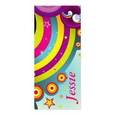 Psychedelic Personalized  Bookmarks   $0.45  per card