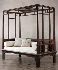 Orchid Four Poster Daybed *want this bolster look on the day bed in nursery
