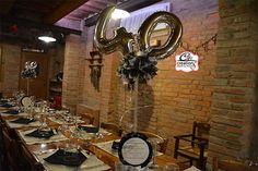 Allestimento per compleanno, festa a tema musica, centrotavola menù con disco personalizzato, tutto by C&C Creations Eventi
