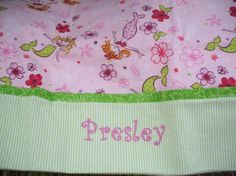 Mermaid Personalized Pink Flannel Pillowcase Fun Girly Birthday Gift  TwoChicklets  #thecraftstar