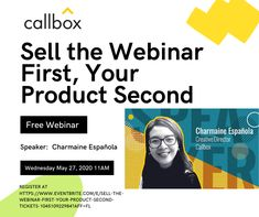 """Don't miss our webinar on """"How to generate leads (and acquire customers) from your virtual events"""" tomorrow at a. Content Marketing, Digital Marketing, Sales Prospecting, Lead Management, Marketing Automation, The Agency, Lead Generation, Creative Director, Need To Know"""