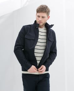 ZARA - MAN - JACKET WITH PATCH AND EPAULETTES