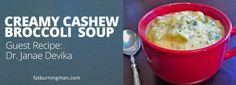 Creamy Cashew Broccoli Soup  - delicious and very nutritious.  dairy-free creamy broccoli soup!