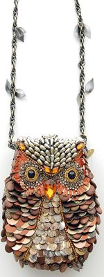 MARY FRANCES What A Hoot Antique Style Purse [Item#14552-09-096] $210.00 If you are unfamiliar with the Mary Frances line of bags, she is known for blending elegance with whimsy to create a unique style that is unmistakably her own. With each and every Mary Frances treasure individually hand crafted by skilled artisans who pay close attention to detail and quality,