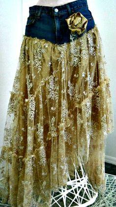 Belle Bohémienne exquise dentelle beige vintage par bohemienneivy