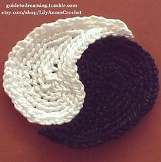 Ancient Symbol of the Aes Sedai crochet applique pattern by Lily Anne Stern (similar to Yin and Yang)