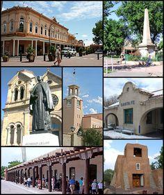 Santa Fe, capital of New Mexico. Santa Fe's Downtown Area (La Villa Real de la Santa Fe de San Francisco de Asís)