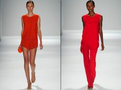 Lady in red by Osklen at NYFW