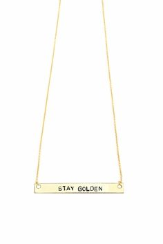 Stay Golden | Wearable mini-mantras stamped for the soul | Pick Your Positivity at loverewritten.com