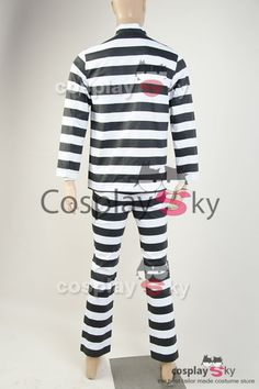 Gotham 2 Arkham Prison Uniform Cosplay Costume_4
