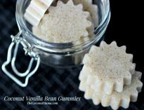 These coconut gummy snacks are delicious and rich of healthy fats and protein. My kids love them and eat them up every time I make them!