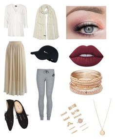 """""""eid 2k16 #3"""" by bayaanisawesome ❤ liked on Polyvore featuring Topshop, Chicwish, Wet Seal, NIKE, Lime Crime, Red Camel, NLY Accessories and Forever 21"""