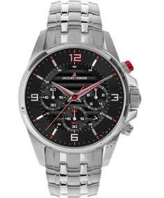 Jacques LEMANS Liverpool Chronograph Stainless Steel Bracelet Η τιμή μας: 254€ http://www.oroloi.gr/product_info.php?products_id=35778