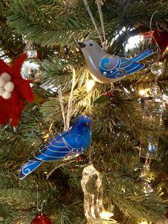 Hallmark Beauty of Birds Ornaments on Christmas tree