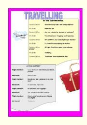 English teaching worksheets: Travelling