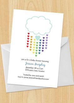 Rainbow Baby Shower Invitation. $17.00, via Etsy.