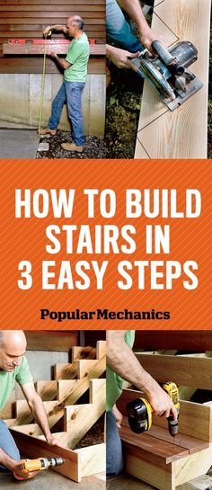 How to Build Stairs in 3 Easy Steps - PopularMechanics.com                                                                                                                                                      More