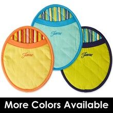Fiesta® Linens - Oven Pot Mitt. A licensed Fiesta product, these potholders / mitts are a colorful kitchen accent.