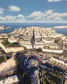 Valletta including the new main entrance │ #VisitMalta visitmalta.com