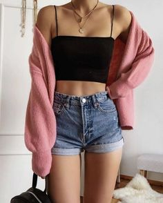 Cute Comfy Outfits, Cute Summer Outfits, Simple Outfits, Stylish Outfits, Cool Outfits, Casual Summer, Comfortable Outfits, Short Outfits, Teen Fashion Outfits
