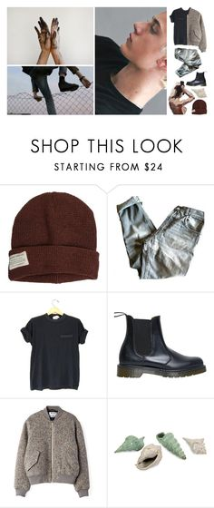 """but you're travelling in highspeeds ; isaac"" by luanajimenez ❤ liked on Polyvore featuring Krochet Kids, Golden Goose, Dr. Martens, Acne Studios, men's fashion and menswear"