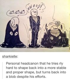 Adorable Gaster trying his best~<<< He seems like a monster equivalent of Tanaka. Undertale Gaster, Undertale Memes, Undertale Cute, Undertale Fanart, Dbz, Toby Fox, Underswap, Fan Art, Indie Games