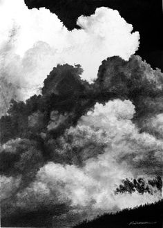 Draped into each other's shadow or billowing out of it, summer cumulonimbus clouds explode slowly and silently over the ridge.