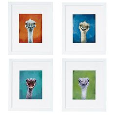 Look what I found at UncommonGoods: squawk - ostrich portrait... for $48 #uncommongoods