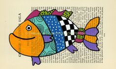 fish folk art painting...blueyeduckstudios (etsy)