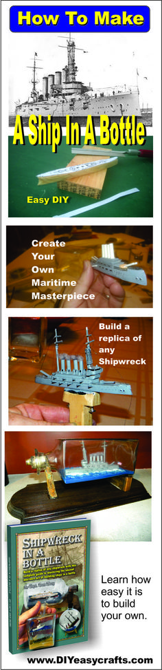For many, a ship-in-a-bottle is perhaps the most recognizable classic piece of nautical decor available. Now you can learn how to create your own unique Shipwreck-in-a-bottle maritime masterpiece.  This book details all the tricks of the trade and secrets involved in building these unique miniature vessels.  http://www.amazon.com/Shipwreck-bottle-shipwreck-complete-mastering/dp/1482733307/ref=sr_1_1?ie=UTF8&qid=1433109104&sr=8-1&keywords=shipwreck+in+a+bottle