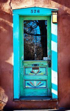 Southwestern Door ....  Canyon Road  .....  Santa Fe  ..... New Mexico