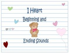 Students will fall in love with these valentine themed cards for beginning and ending sounds practice!