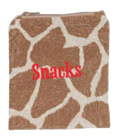 Caught Ya Lookin' Reusable Snack Bag, Giraffe